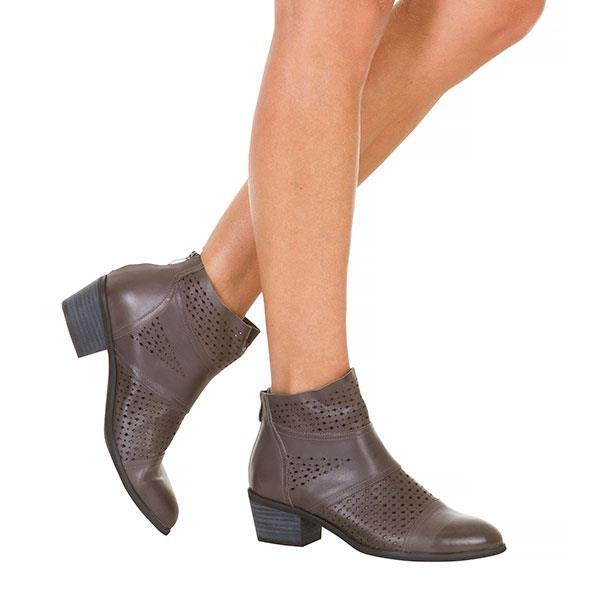 Grey Cowgirl Cut Out Boots