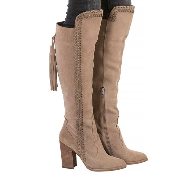 Taupe Long Spanish Boots