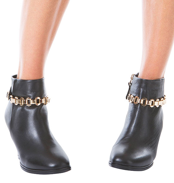 Ankle Boots with Gold Chain