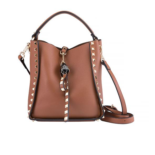Small Tan Studded Bag